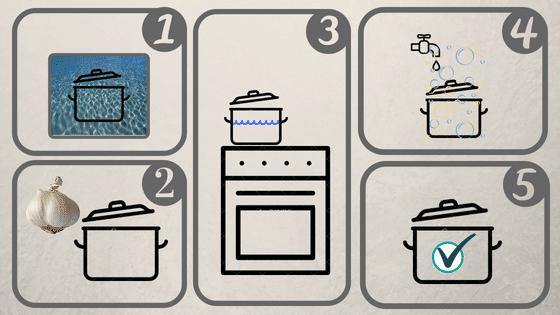 como curar tu vasija de barro con ajo