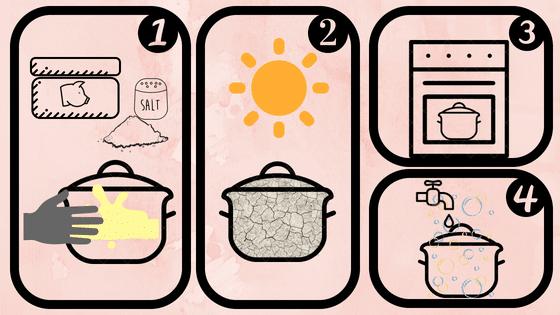como curar una olla de barro con grasa de cerdo