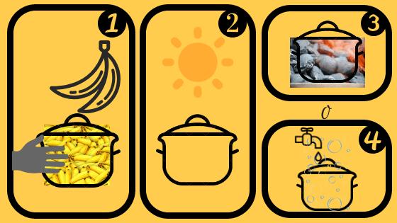 curar olla de barro con plátano verde o maduro